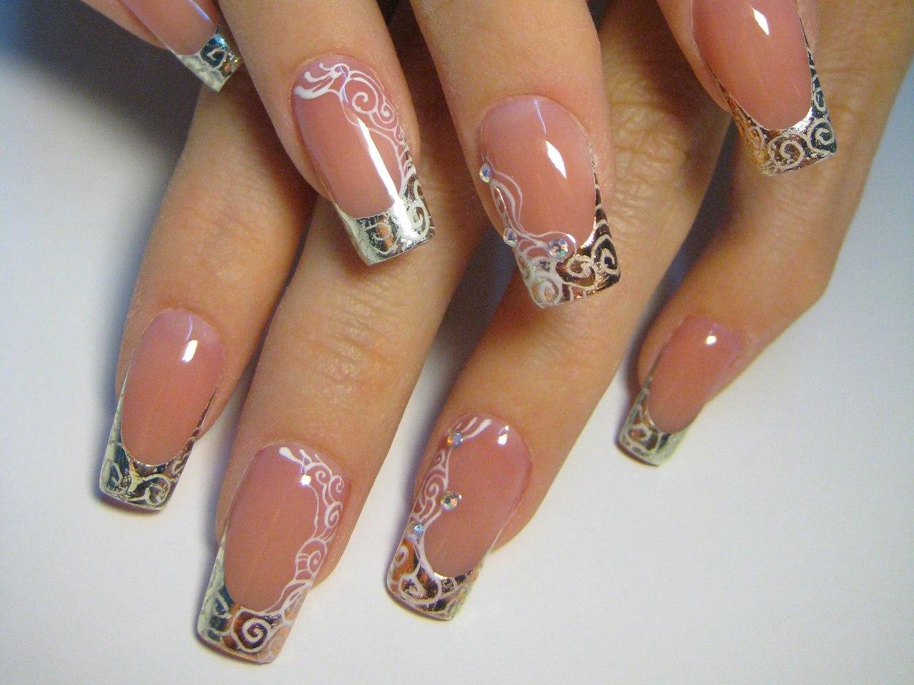 Фото нарощенных ногтей париж